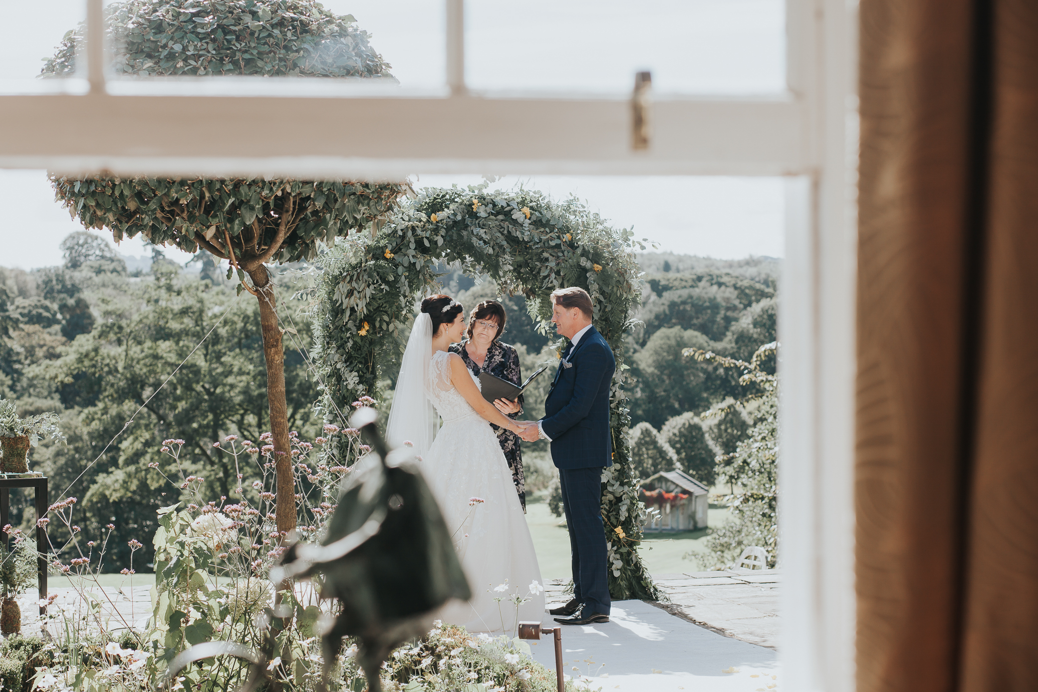 a beautiful Ann Marie and Mark - wedding on a stunning September day - outdoor ceremony that included a Celtic hand-fasting'