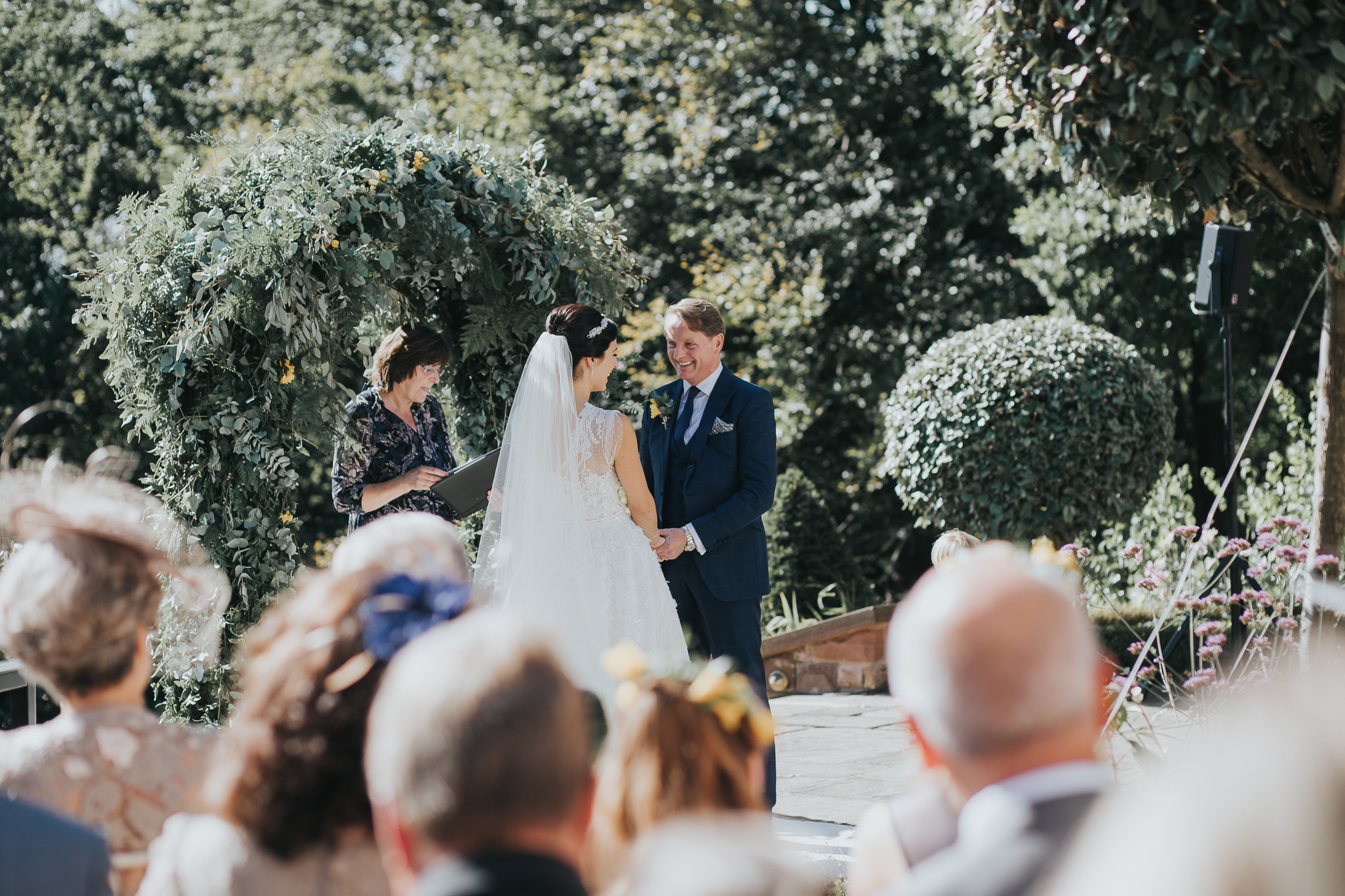 a beautiful wedding on a stunning September day - outdoor ceremony that included a Celtic hand-fasting'