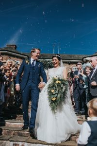 Sue Williamson performed the wedding ceremony which included a Celtic hand fasting